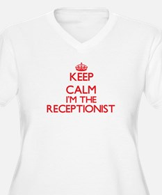 Keep calm I'm the Receptionist Plus Size T-Shirt