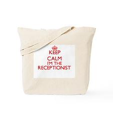 Keep calm I'm the Receptionist Tote Bag