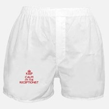 Keep calm I'm the Receptionist Boxer Shorts