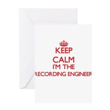 Keep calm I'm the Recording Enginee Greeting Cards