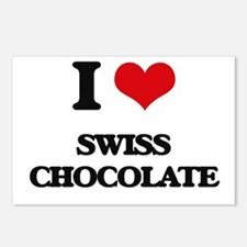 swiss chocolate Postcards (Package of 8)