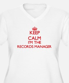 Keep calm I'm the Records Manage Plus Size T-Shirt