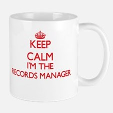 Keep calm I'm the Records Manager Mugs