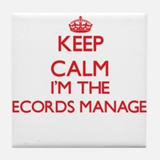 Keep calm I'm the Records Manager Tile Coaster