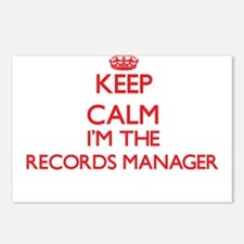 Keep calm I'm the Records Postcards (Package of 8)