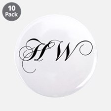 "HW-cho black 3.5"" Button (10 pack)"