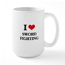 sword fighting Mugs