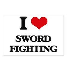 sword fighting Postcards (Package of 8)