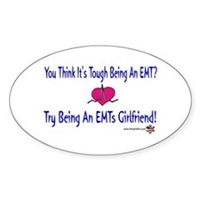 EMTs Girlfriend Oval Decal