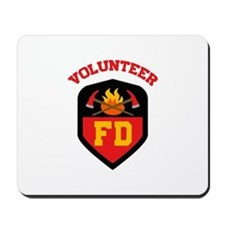 FIRE DEPT VOLUNTEER Mousepad