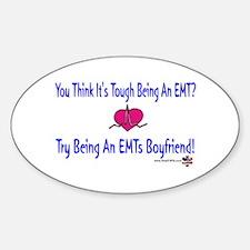 EMTs Boyfriend Oval Decal