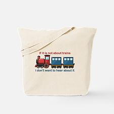 Train Talk Tote Bag