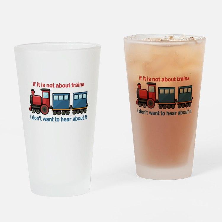 Train Talk Drinking Glass