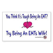 EMTs Wife Rectangle Decal