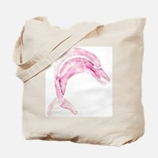 Pink Dolphin Tote Bag