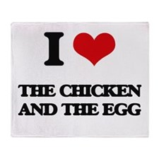 the chicken and the egg Throw Blanket