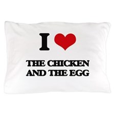 the chicken and the egg Pillow Case