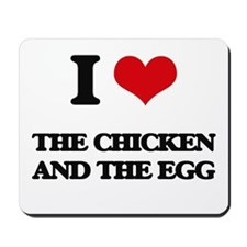 the chicken and the egg Mousepad