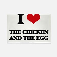 the chicken and the egg Magnets