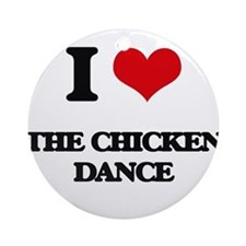 the chicken dance Ornament (Round)