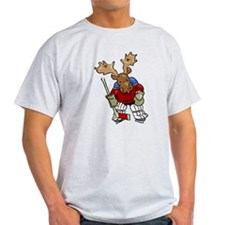 Moose Playing Hockey T-Shirt