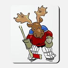 Moose Playing Hockey Mousepad