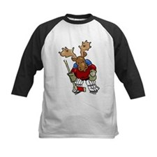 Moose Playing Hockey Tee