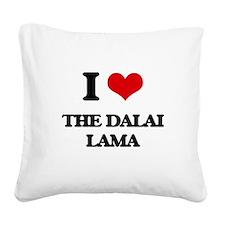 the dalai lama Square Canvas Pillow