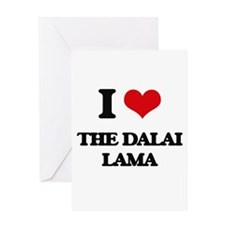 the dalai lama Greeting Cards