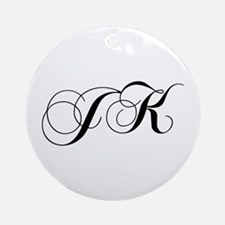 JK-cho black Ornament (Round)