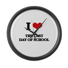 the last day of school Large Wall Clock