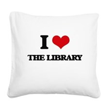 the library Square Canvas Pillow