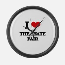 the state fair Large Wall Clock