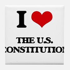 the u.s. constitution Tile Coaster