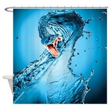Water Snake Graphic Illustration Shower Curtain