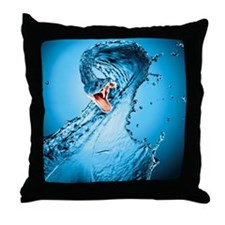Water Snake Graphic Illustration Throw Pillow