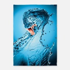 Water Snake Graphic Illustration 5'x7'Area Rug
