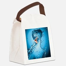 Water Snake Graphic Illustration Canvas Lunch Bag