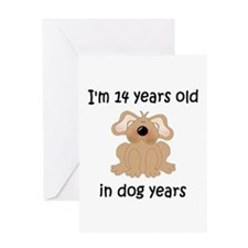 2 dog years 5 - 2 Greeting Cards