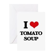tomato soup Greeting Cards