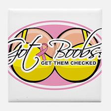 Got Boobs? 2 Tile Coaster