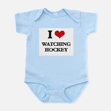 watching hockey Body Suit