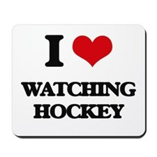 watching hockey Mousepad