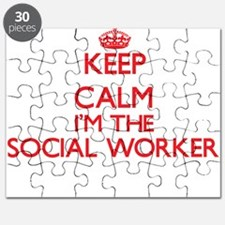 Keep calm I'm the Social Worker Puzzle