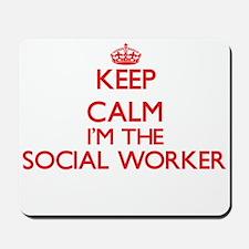 Keep calm I'm the Social Worker Mousepad