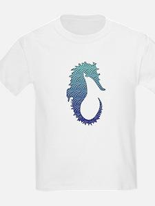 Wave Seahorse Kids T-Shirt