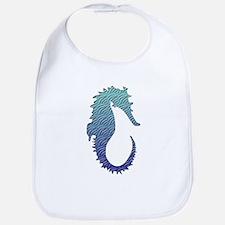 Wave Seahorse Bib