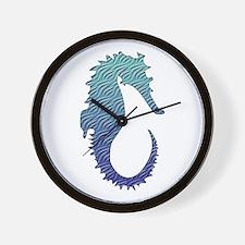Wave Seahorse Wall Clock
