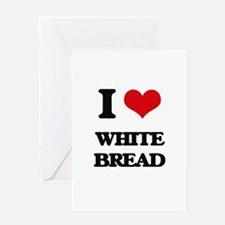 white bread Greeting Cards