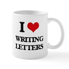 writing letters Mugs